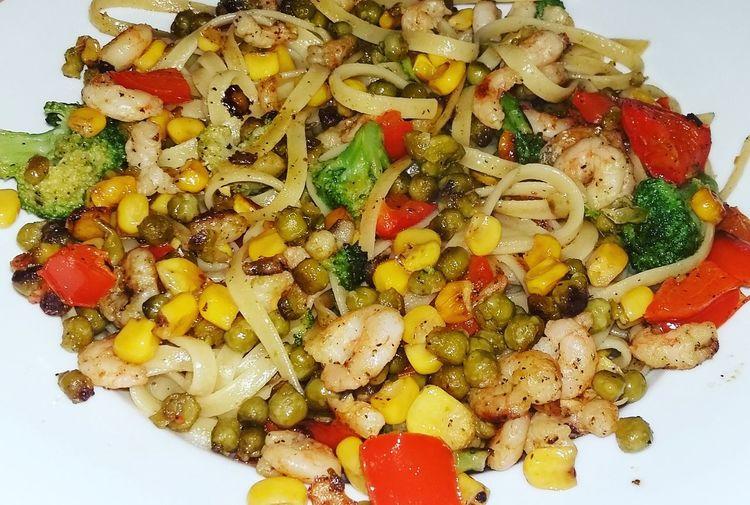 Dinner Cooking Selfmade Pasta Shrimps Food Foodporn Food Porn