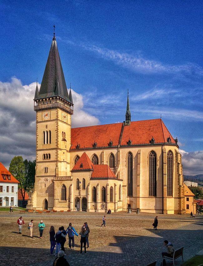 The Church of St. Aegidius in Bardejov Bardejov Bartfeld Slovakia Church St. Aegidius Central Square UNESCO World Heritage Site Sightseeing Landmark Europe Building Medieval Town