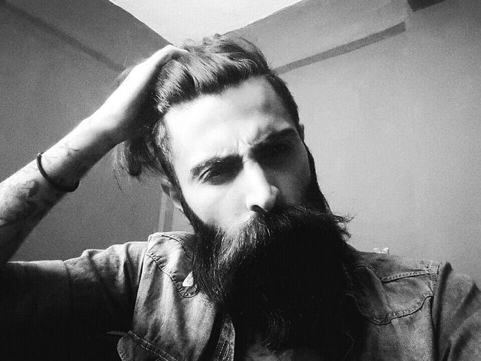 Tattoo Beard Bearded Hair Longhair Tattoos Beardman Beardlife Black Blackandwhite Hair Tattooed Man Photo Beardandtattoos Black And White Blackandwhite Photography Beardedmen
