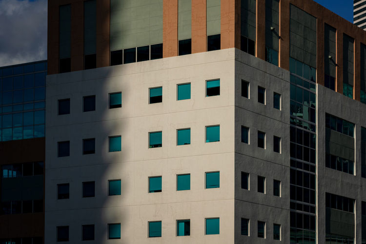 Miami modern architecture close-up Architecture Built Structure Building Exterior Window Building City No People Low Angle View Glass - Material Repetition Modern Full Frame Reflection Sunlight Apartment In A Row Modern Architecture Shadows & Lights Miami