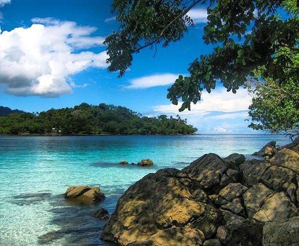 Sea and Sky are blue Insta Instapic Island INDONESIA Landscape Sea Maluku  Ambon Ambonmanise