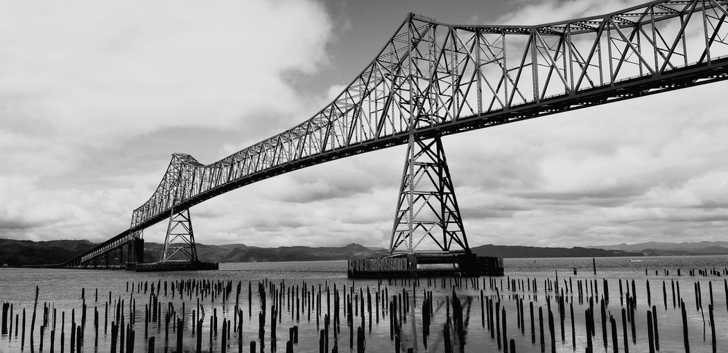 Darryn Doyle Check This Out Steel Horizon Industry Bridge - Man Made Structure Sea Business Finance And Industry Technology Metal Girder Oil Pump Iron - Metal Wooden Post Mooring Post Wrought Iron Iron