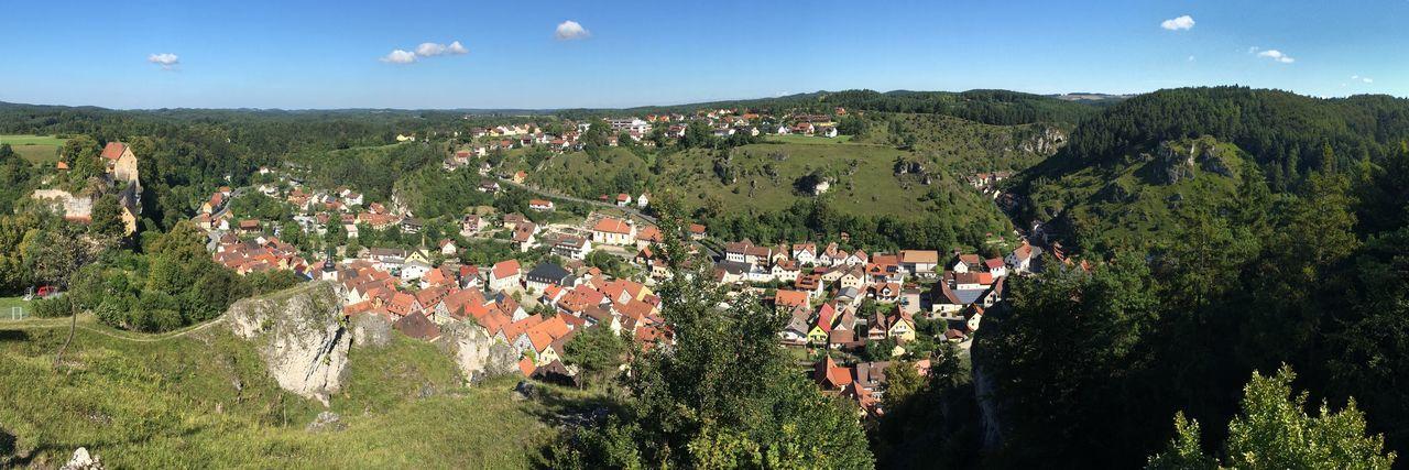 Blick auf Pottenstein - Fränkische Schweiz