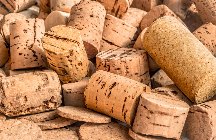 Closeup of cork stoppers for wine bottles Bread Close-up Cork - Stopper Corkscrew Day Food And Drink No People Studio Shot Wine Wine Bottle Wine Cork Winetasting