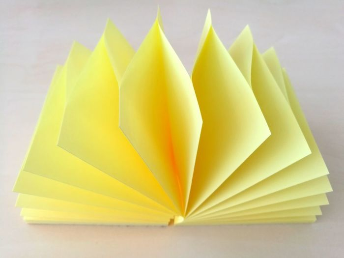 Yellow Paper No People Indoors  Close-up Day