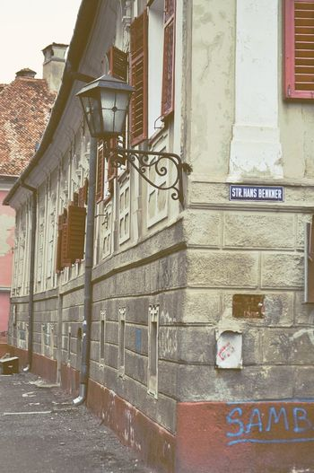 Architecture Black Church Brasov Brasov Romania Building Exterior Built Structure Church City Day No People Outdoors Romania Street Text Travel Destinations Vintafe