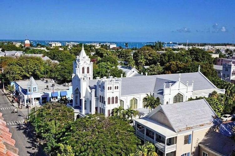 Key West Church Blue Sky Duval Street