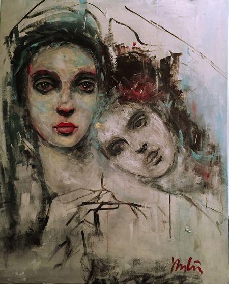 """F/9/2016""""mélodie Hongroise/ Ungarische Mélodie Faces Portait Artist Art Portrait Of A Woman Atelier Bouterin& Co Caroline Hulin Peinture"""