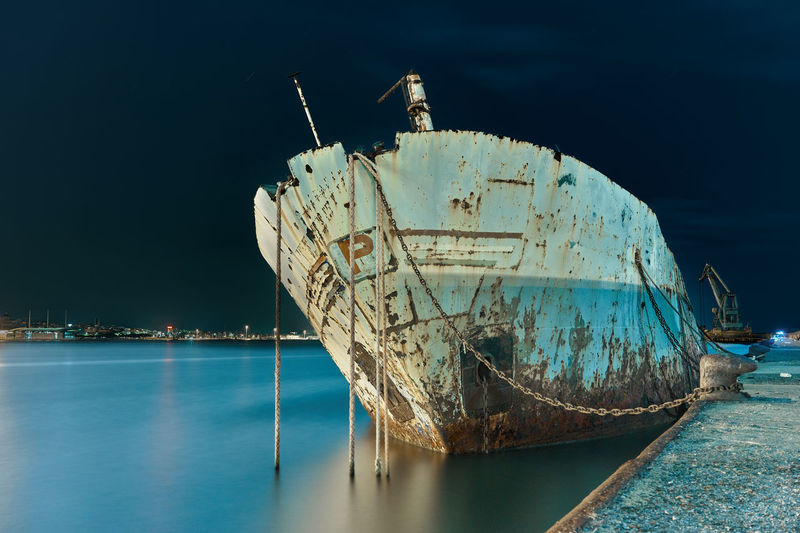 Wreck Abandoned Damaged Decline Deterioration Long Exposure Mode Of Transportation Moored Nautical Vessel No People Obsolete Outdoors Ruined Rusty Rusty Metal Sailboat Sea Ship Shipwreck Sinking Sky Transportation Water