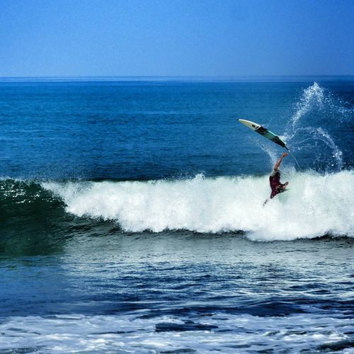 Surfing just Became a Way Dangerous sometimes ☺💓🏄🌎🌍🌏☝👉🌊😍🌞 bali canggu indonesia asia waves swell brawa beach jump instagood warrenjc foam ocean sun happy friends surf fun instalike surfboard