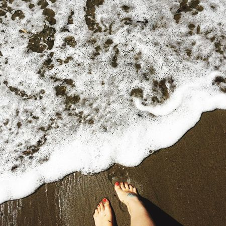 Piedi Mare Lidodicamaiore  Smalto Unghiette Rosse Nails Sand Pasquetta