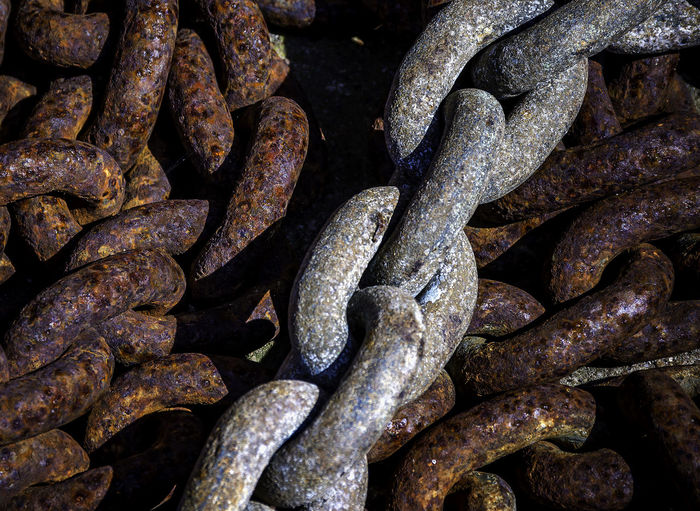 Backgrounds Chain Close-up Complexity Connection Day Detail Full Frame Iron Iron - Metal Metal No People Old Outdoors Rusty Safety Security Still Life Strength Textured  Weathered The Still Life Photographer - 2018 EyeEm Awards