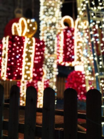 Christmas lights Close-up Christmas Decoration Christmas Lights Christmas Ornament Light Red Golden Natale  Italy Lovely Bestmoment Good Times Night Present Enclosure Beautiful Streetphotography Outdoors Close-up Christmas Tree City Life Nightphotography Holiday Magic Magic Moments Santa Claus Happy Time Happiness Light And Shadow Light In The Darkness EyeEm Ready   EyeEm Ready