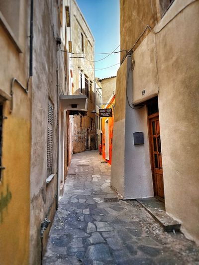 Architecture Built Structure Building Exterior House No People Day Outdoors Streetphotography Streets Crete Greece City Chania Old Town Chania Orange Color