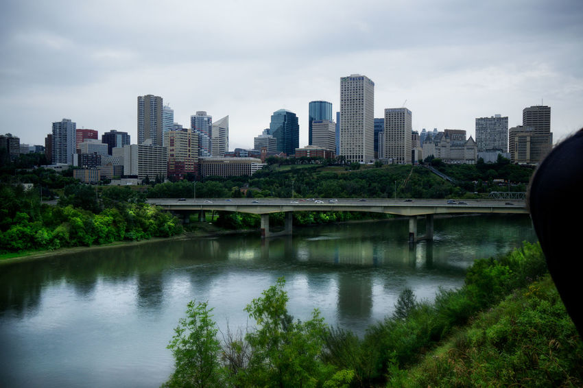 Edmonton Ggaßler Love Passion Sony Home is Where the Art is Canada Photos Photoshoot Passionforphotography Time Time To Reflect The Street Photographer - 2018 EyeEm Awards City Cityscape Urban Skyline Modern Skyscraper Tree Water Illuminated Bridge - Man Made Structure Downtown District Tower River Tall - High Skyline
