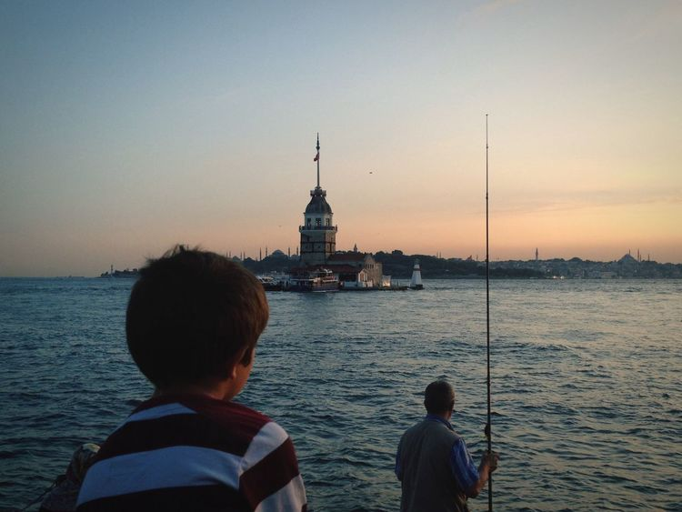 Kizkulesi Istanbul Istanbuldayasam Istanbulove Istanbul Turkey Istanbullovers Relaxing Thinking Fishing Seaside Enjoying Life Amazing View Maiden Tower Blue Love Lovely Weather IPhone 4S