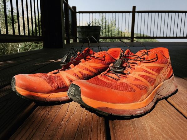 almost the end of the summer. you can tell by the shoes. Running Wasatch County Utah No People Railing Shoe Orange Color Nature Day Wood - Material
