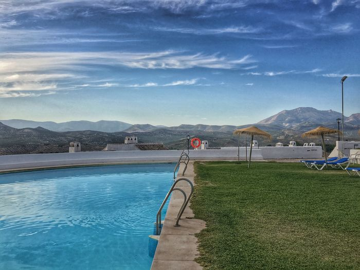 Mountain Water Mountain Range Long Blue Railing Sky Sea Tranquility Swimming Pool Tranquil Scene Footpath Pathway Day Scenics Walkway Calm Outdoors Nature Swimming Swimming Pools Swimingpool