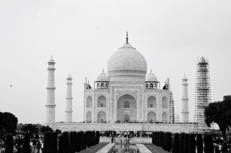 Low angle view of taj mahal