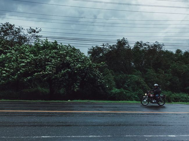 Road Dramatic Sky Rainy Days Lines And Shapes Eyeem Philippines Motorcycle Mode Of Transport Transportation Land Vehicle Nature Deceptively Simple