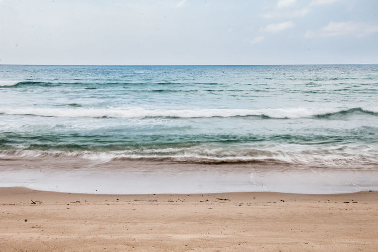 life's a beach Isolated Beach Beauty In Nature Blue Horizon Horizon Over Water Motion Nature No People Outdoors Scenics - Nature Sea Simplicity Tranquil Scene Tranquility Water Wave