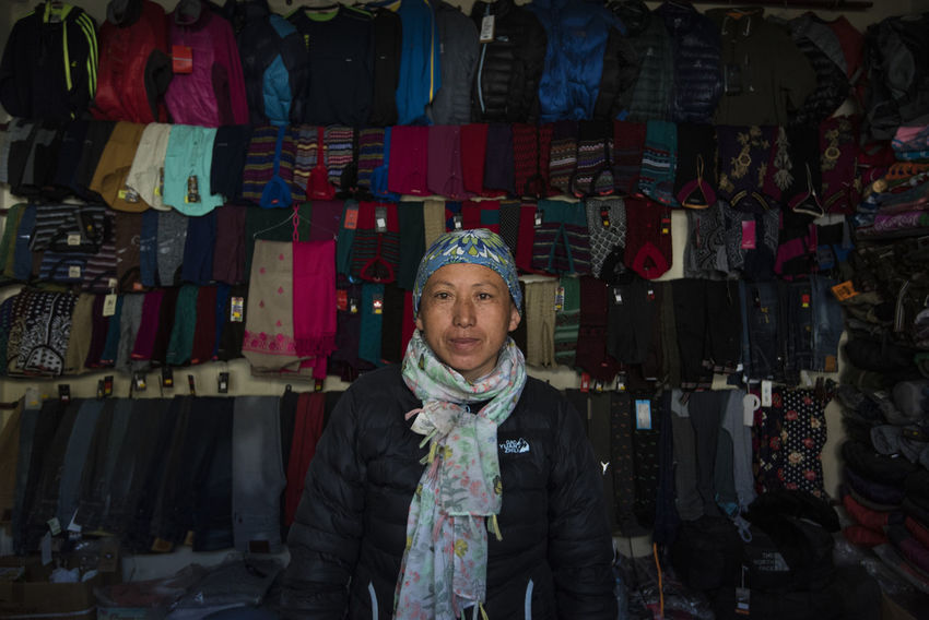 A shopkeeper at Nako, Himachal Pradesh. Himachal Pradesh, India Nako Spiti Valley India Travel Adult Adults Only Choice Fashion Front View Hanging Indoors  Large Group Of Objects Looking At Camera Night One Person People Portrait Real People Retail  Small Business Spiti Standing Store Warm Clothing Investing In Quality Of Life