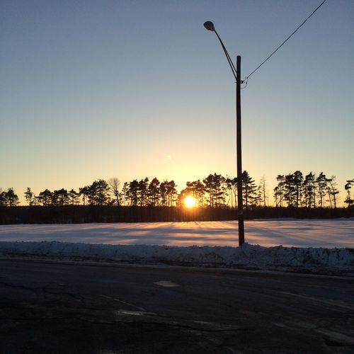 Winter Sky Winter Sunset Horizon