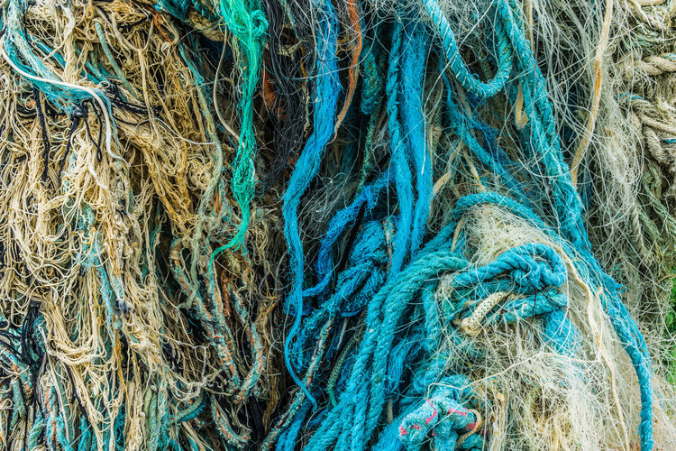 Rope, Nets, Fishing Line Abundance Backgrounds Close Up Close-up Detail Fishing LINE Multi Colored Net Polution Rope Rope Ropes Textile