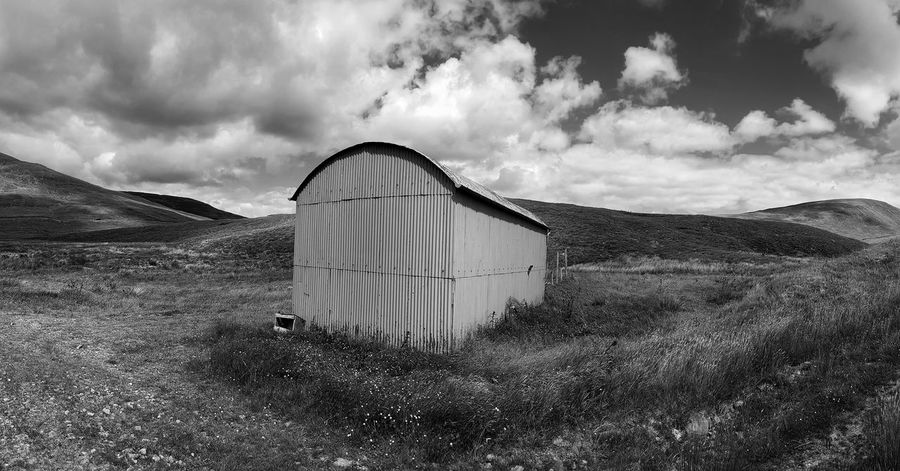 Upper Tweeddale. Cloud - Sky Sky Built Structure Outdoors Architecture Day No People Farm Building Pamoramic Panorama Black And White Photography Scottish Borders Tweeddale Scotland