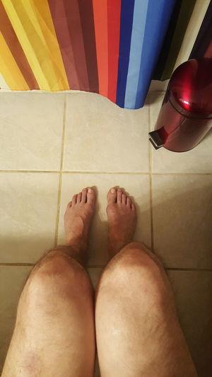 Bathroom Shower Curtain Sitting Bathroom Art Taking Care Of Business Legs Bare Legs Feet