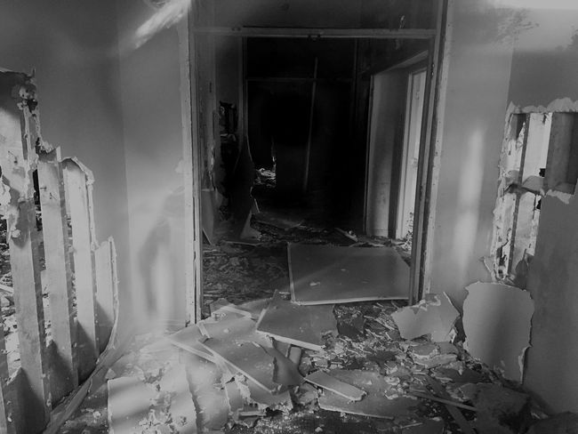 Abandoned School. Indoors  Home Interior No People Damaged Window Built Structure Glass - Material Abandoned Destruction Broken Entrance Breaking Architecture Still Life
