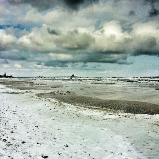 Stürmische See Storm Sea Baltic Beach winter skyporn cloud instadaily instaclouds instahub instabest