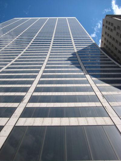 Architecture Shape Skyscraper Skyscraper And Blue Sky Slide Into The Sky
