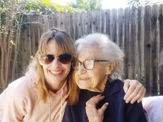 My wonderful Grandmother 92 years young This Is Aging Young Women Portrait Smiling Togetherness Friendship Happiness Bonding Cheerful Looking At Camera Headshot Arm Around Cheek To Cheek Family Bonds Hugging Self Portrait Photography