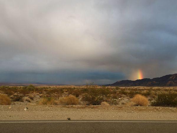 Cloud - Sky Nature Landscape Scenics Storm Cloud Rainbow Desert Mountains Backroads No People Outdoors