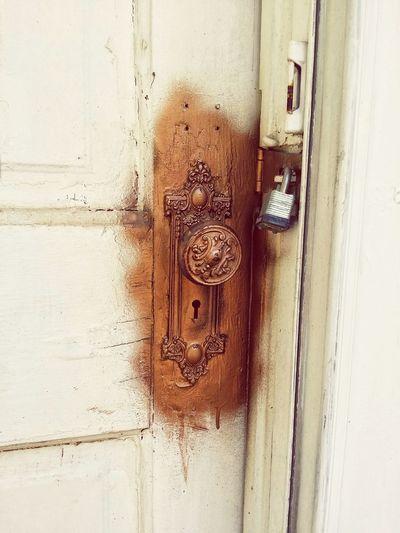Doorway Old Painted Golden Vintage Door Backgrounds Full Frame Door Safety Metal Protection Close-up Door Handle Locked Lock Padlock Hinge Keyhole Doorknob Entryway Closed Door Safe Front Door Latch