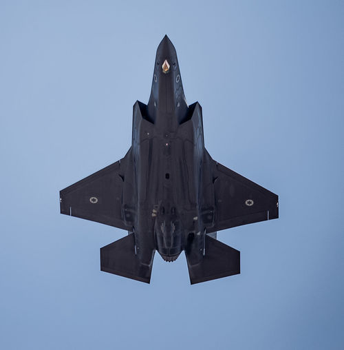 Adir Air Force Airplane Aviation Blue Clear Sky Day F-35I Flight Flying IAF Israeli Air Force Low Angle View Outdoors Sky