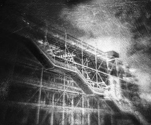 Le centre Pompidou in Paris Lumigraphe Bnwphotography Analogue Photography Hybrid Camera Hybrid Camera Obscura