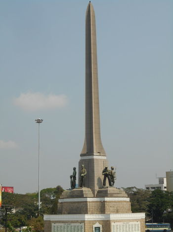 Architecture Bangkok Thailand. City Day Monument No People Outdoors Sky Victory Monument