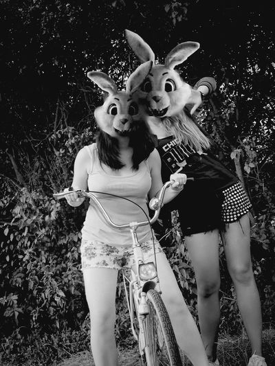 Friends Friend Friendship Summer Rabbit Animal Face Sunmertime Girl Girls Bycicle 2years ago