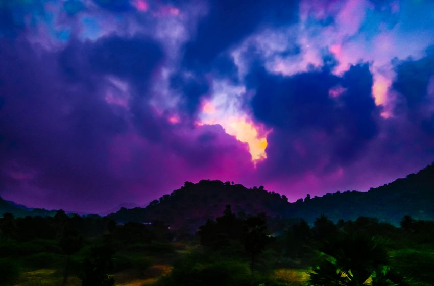 Nature Tree Night No People Outdoors Mountain Landscape Beauty In Nature Scenics Sky Power In Nature EyeEmNewHere