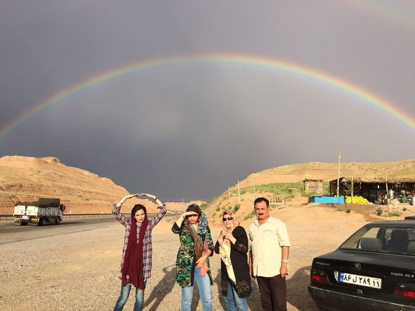 People Together Rainbow Mountain Roadtrip Iran Zanjan People And Places
