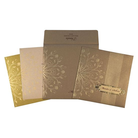 Leave a sparkling first impression on your wedding guests by choosing this exuberantly glamorous Indian Wedding Invitations for your wedding. Shop Now @ https://www.123weddingcards.com/card-detail/IN-1688 123WeddingCards Colorful Indian Wedding Invitations Indian Wedding Cards Online Modern Wedding Invitations Unique Wedding Invitations