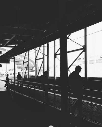 Built Structure Light And Shadow Mobile Photography Getting Inspired Railway Railway Station Waiting Travel Passenger Black And White Black & White Sony Xperia Sony Mobile XperiaM5 EyeEm Masterclass EyeEm Best Shots From My Point Of View Our Best Pics