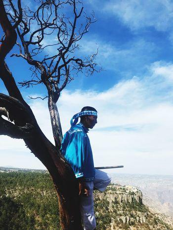 Tarahumara Tarahumara Coppercanyon Barrancasdelcobre Sky Cloud - Sky Real People Water Tree Plant Nature One Person