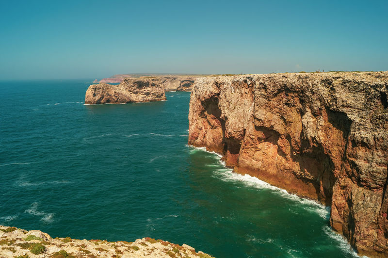 The cliffs of