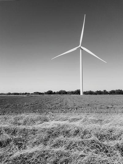 Environmental Conservation Wind Turbine Renewable Energy Wind Power Clear Sky Alternative Energy Nature Farm Agriculture