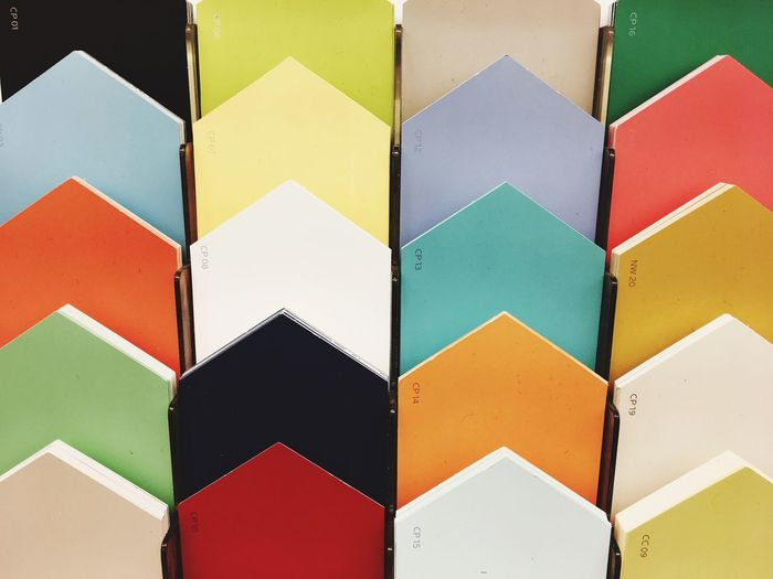 Paint by colors EyeEm Selects Multi Colored Full Frame Backgrounds Indoors  No People Pattern High Angle View Art And Craft Choice Variation Close-up Still Life Large Group Of Objects In A Row Creativity Craft Repetition Design Shape Geometric Shape