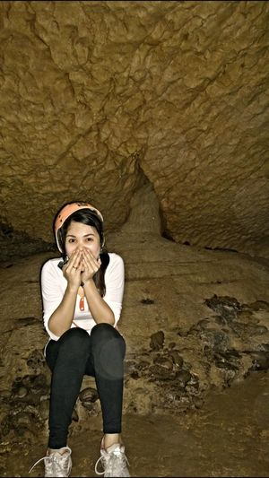 Casual Clothing Cave Full Length Leisure Activity Lifestyles Portrait Stalactite  Stalagmites