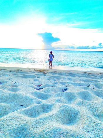 beautiful sunset. EyeEmNewHere #EyeEmNewHere #summer #beach #JustMe #photography #Nature  #visitphilippines #Wanderlust #traveler #throwback #beachislife #Chillin #likeforlike #likemyphoto #qlikemyphotos #like4like #likemypic #likeback #ilikeback #10likes #50likes #100likes #20likes #likere #landscape #nature #photography #wheninjomalig #solotraveler #outfit #OOTD #sky Water Full Length Beach Sand Sky Horizon Over Water EyeEmNewHere The Great Outdoors - 2018 EyeEm Awards The Traveler - 2018 EyeEm Awards